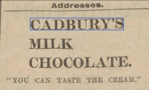 Vintage Cadbury Christmas ad