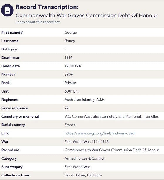 Commonwealth War Graves Commission records on Findmypast