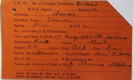 Black merchant seamen records