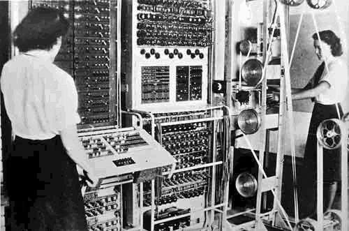 Colossus, the first computer, at Bletchley Park