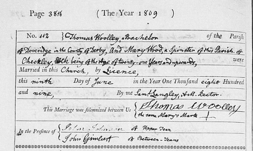 Staffordshire marriage records