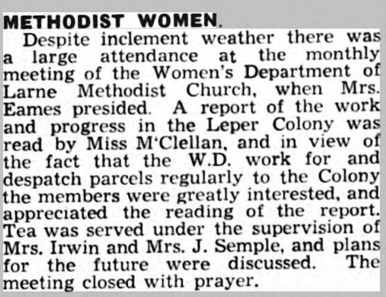 Methodist women in old newspapers