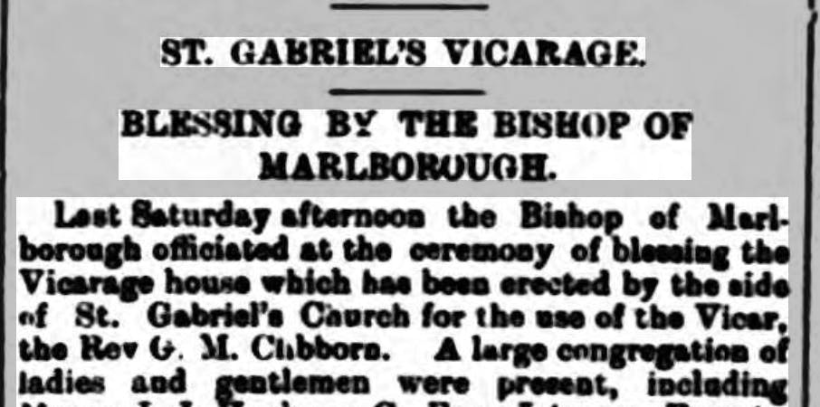 St. Gabriel's Vicarage blessed by the Bishop of Marlborough, 1900.