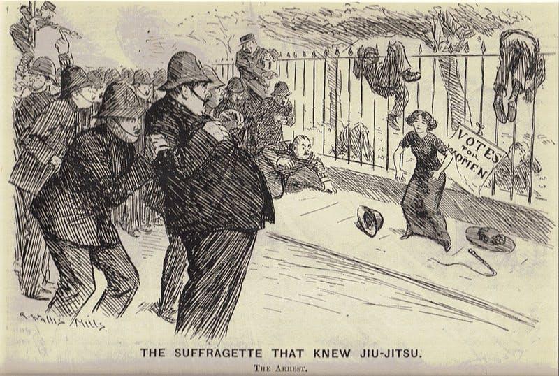 Edith Garrud Jiu-jitsu Suffragette