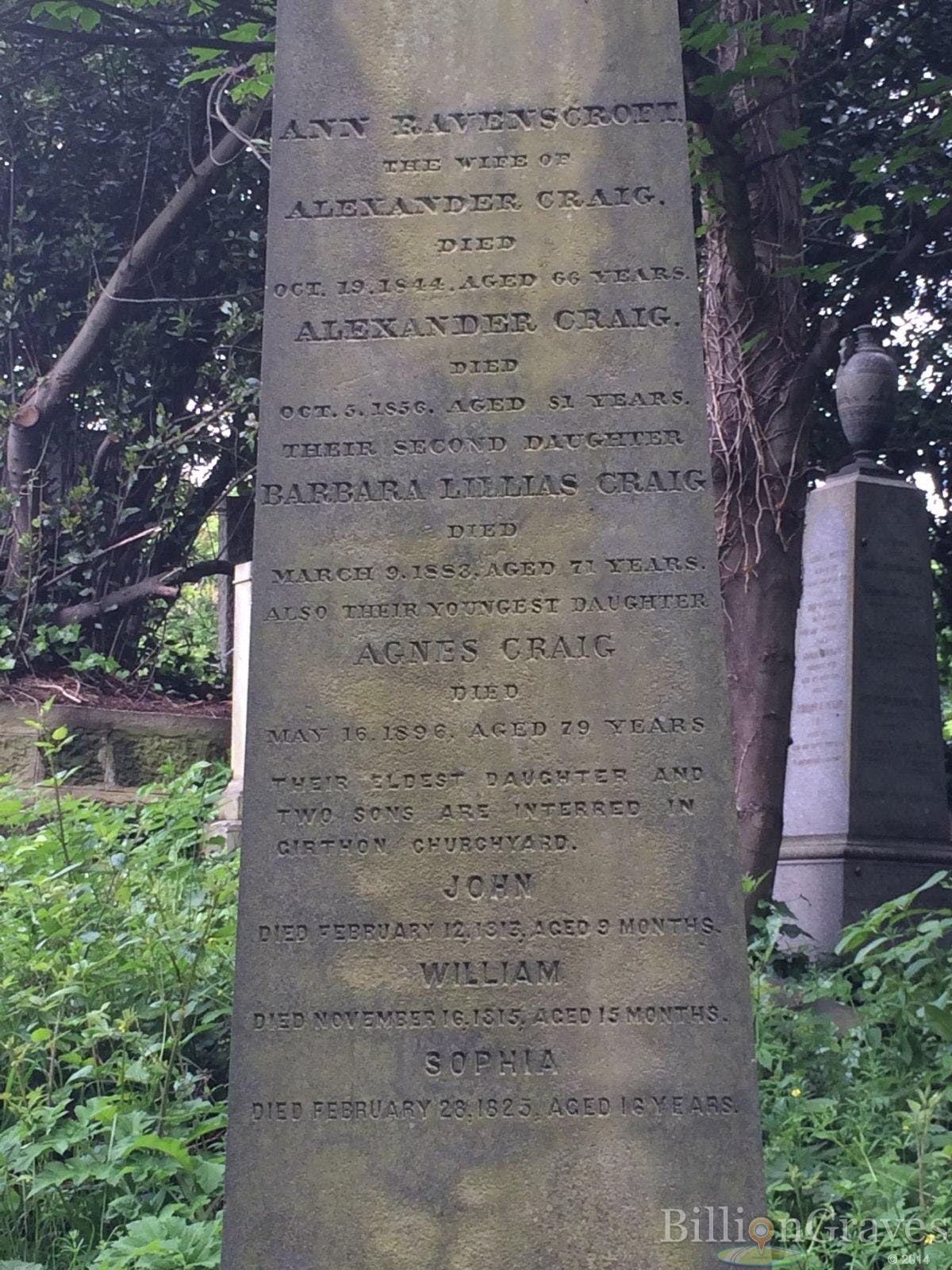 Scottish cemetery records