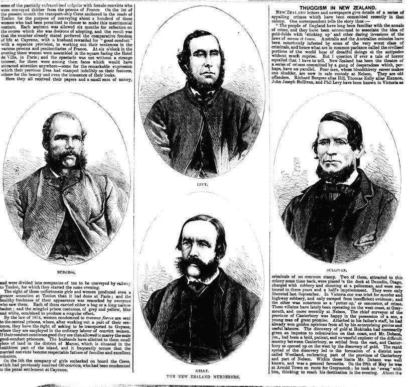 Burgess gang, New Zealand gold rush