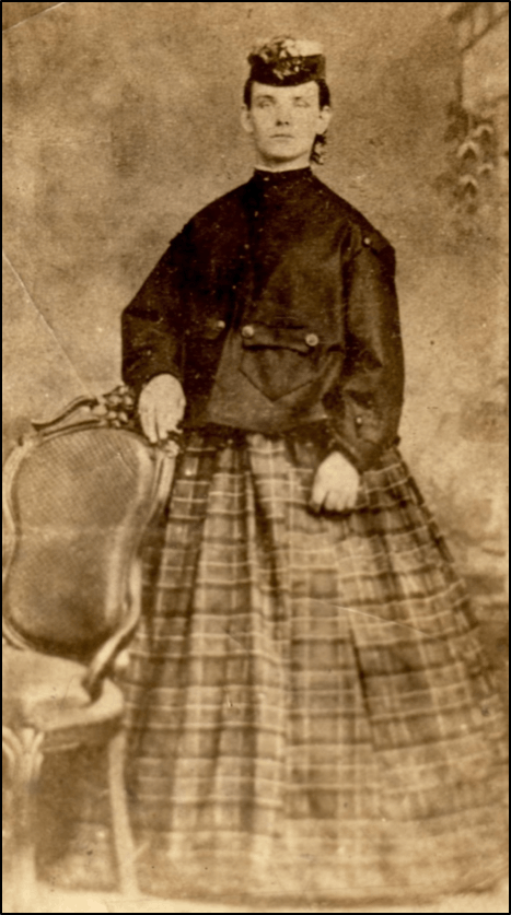 Eliza Kennedy Morgan, circa 1867. Photo used with the client's permission.