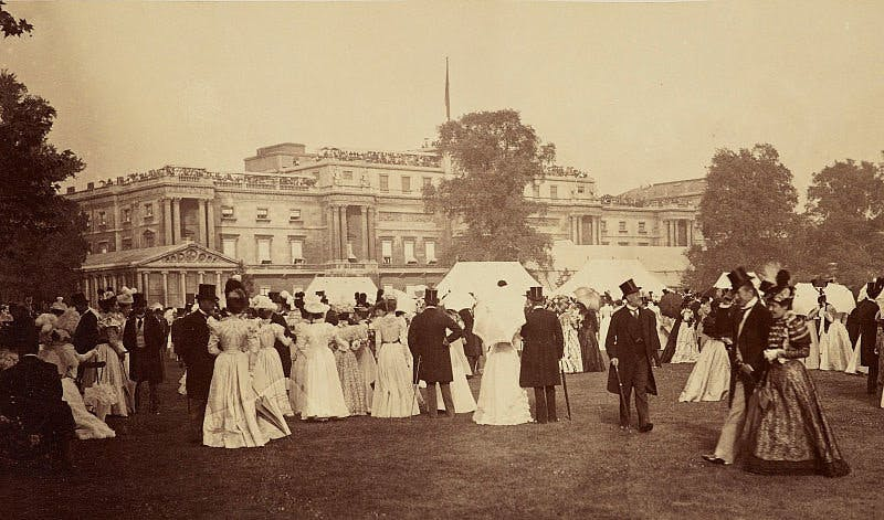 A garden party at Buckingham Palace for Queen Victoria's Diamond Jubilee in 1897