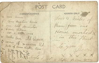 What was written on old postcards?