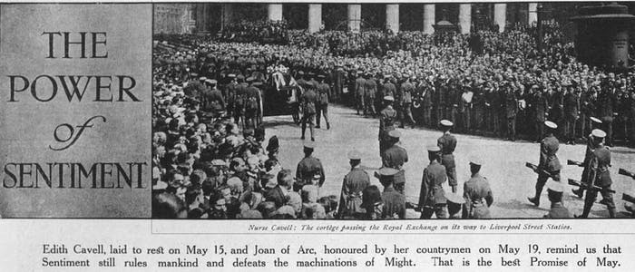 edith cavell's funeral