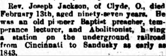 Underground Railroad - newspaper reports