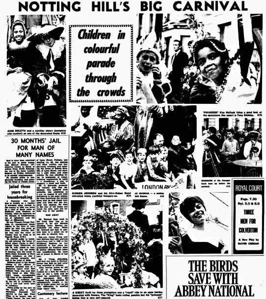 Notting Hill Carnival history