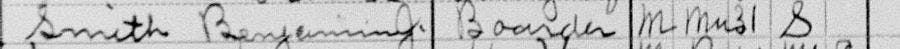 Smokey Robinson's grandfather in the 1910 US Census