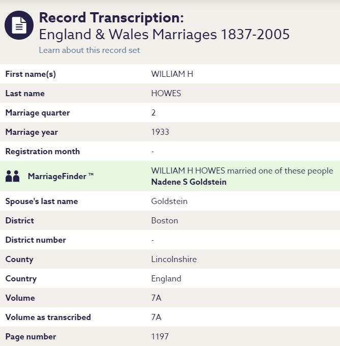 Find grandparents marriage record