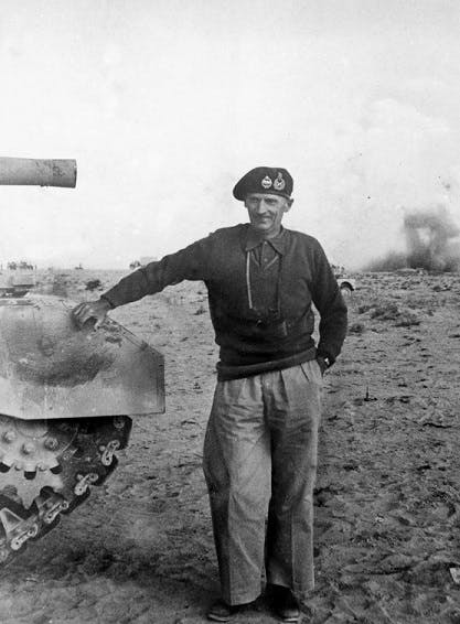 General Montgomery at El Alamein