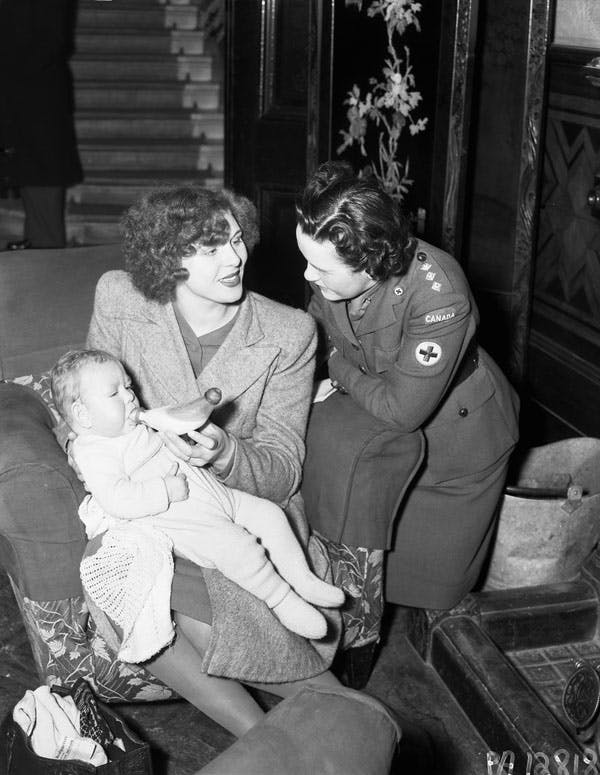 War brides going to Canada in World War 2