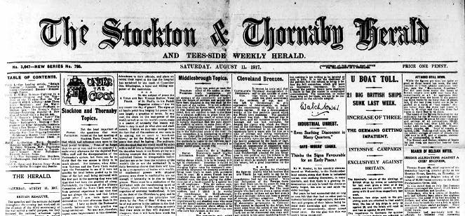 Stockton Herald newspaper archive