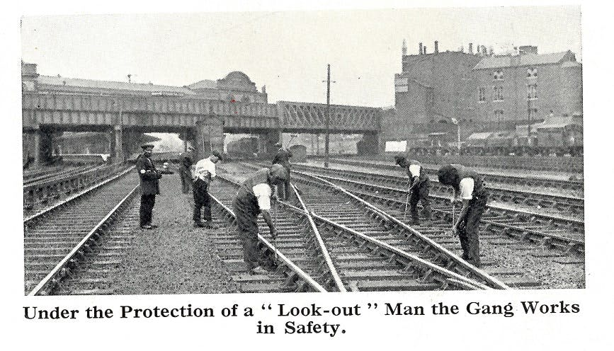 Look-out man on the railway