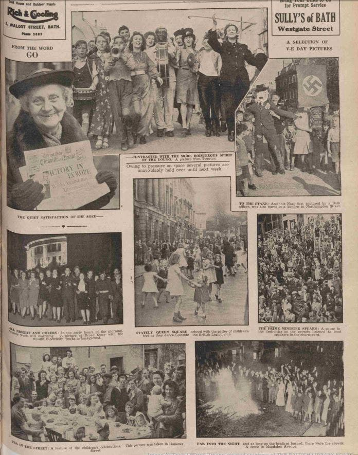 VE Day in Bath, May 1945