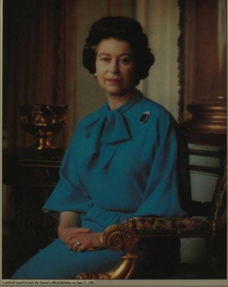 The Queen's birthday portrait, 1982