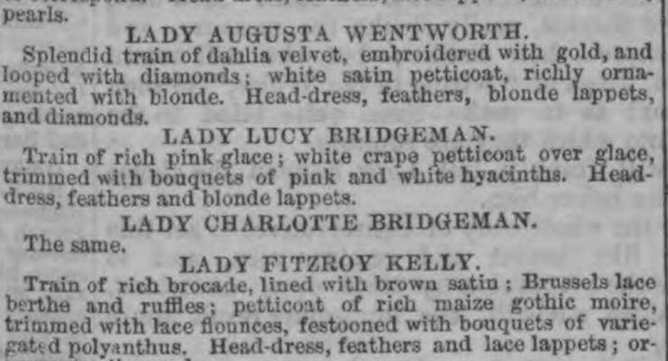 Charlotte and Lucy Bridgeman in the newspapers