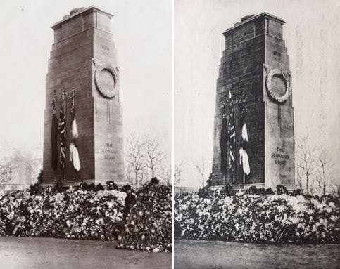 Cenotaph photos, 1920s