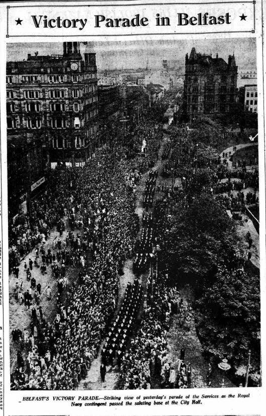 VE Day in Belfast, May 1945