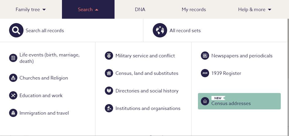 Findmypast record search