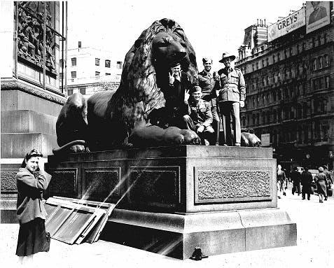 VE Day in Trafalgar Square