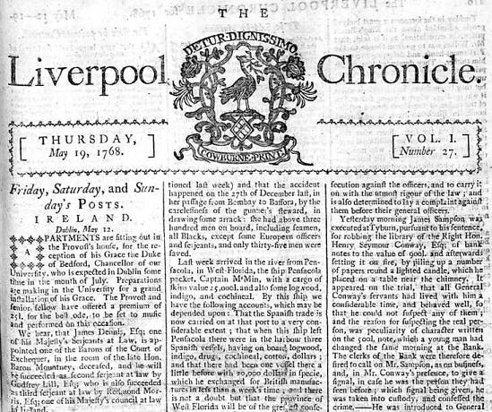 Liverpool Chronicle archives