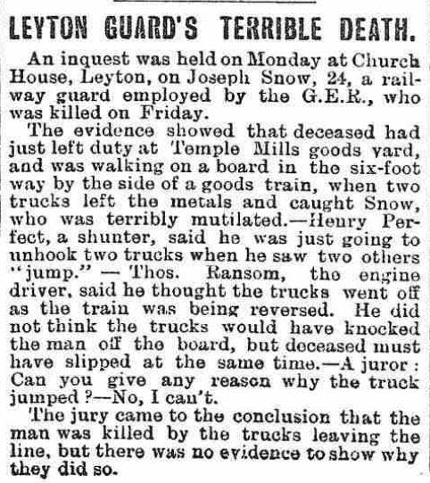 Railway accidents reported in old newspapers