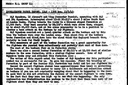 Battle of Britain combat reports