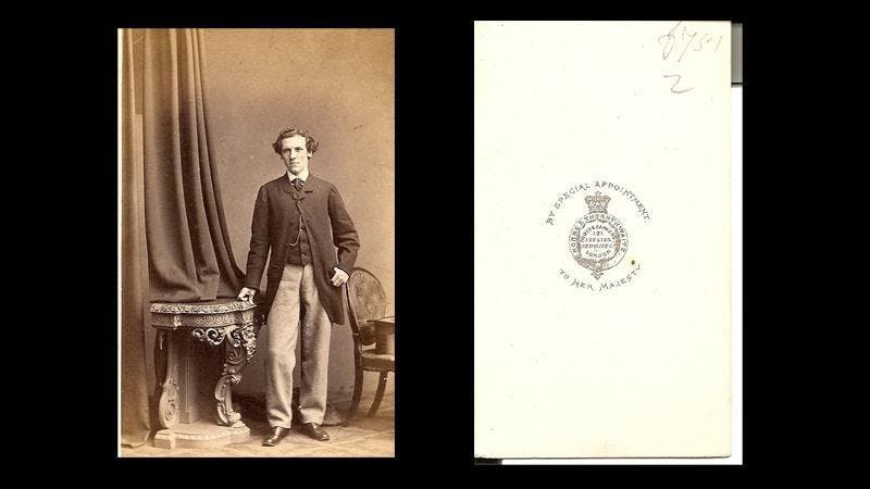 This carte de visite photo can be closely dated to 1863-64 from the brief studio operational dates recorded on the London website for early photographers - www.photolondon.org.uk - and from the plain style of printed card mount.