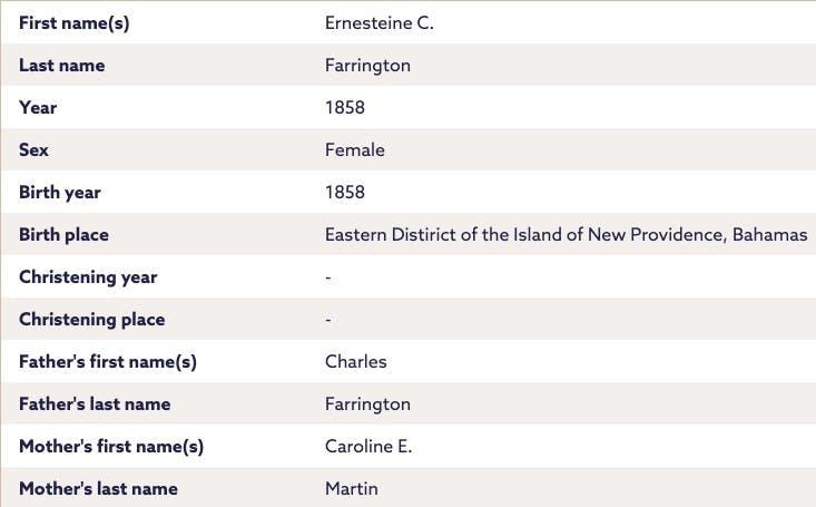 Caribbean birth records on Findmypast