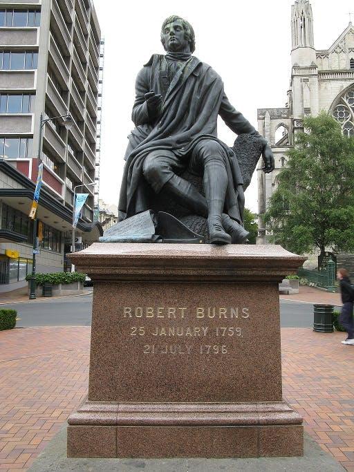 Robert Burns Statue, Dunedin, New Zealand.