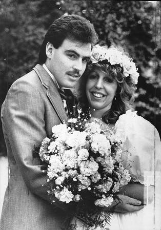 1980s wedding photo