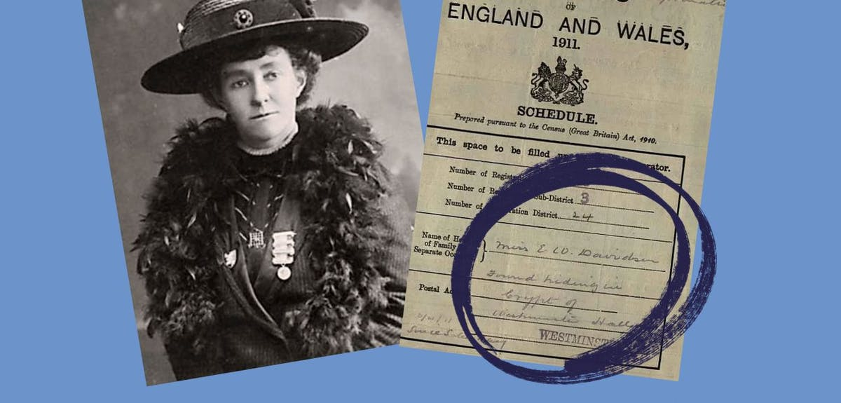 Emily Davison suffragette census record