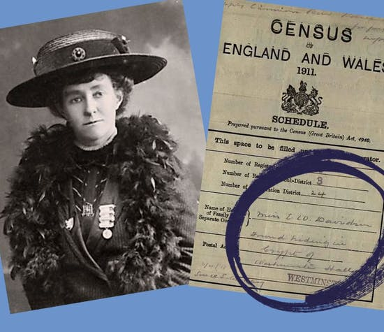 Emily Davison suffragette census record