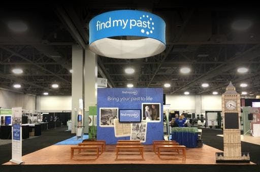 Findmypast's Booth at RootsTech 2015
