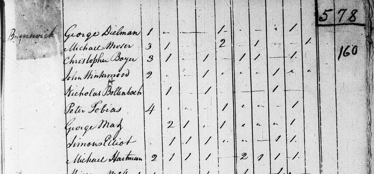 Early US census records