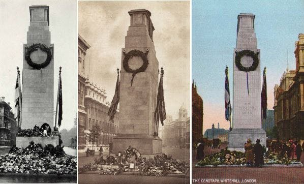 Early photos of the Cenotaph