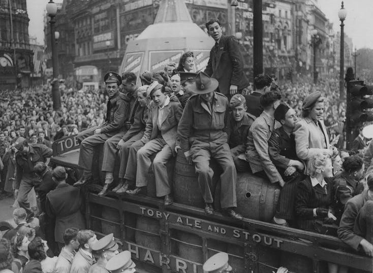 VE Day in London