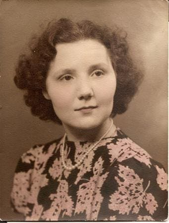 This studio portrait is presented on a postcard mount, the most popular photographic format of the early-mid 20th century. Dated 1938 but not named, luckily the subject is clearly recognisable as my paternal aunt,