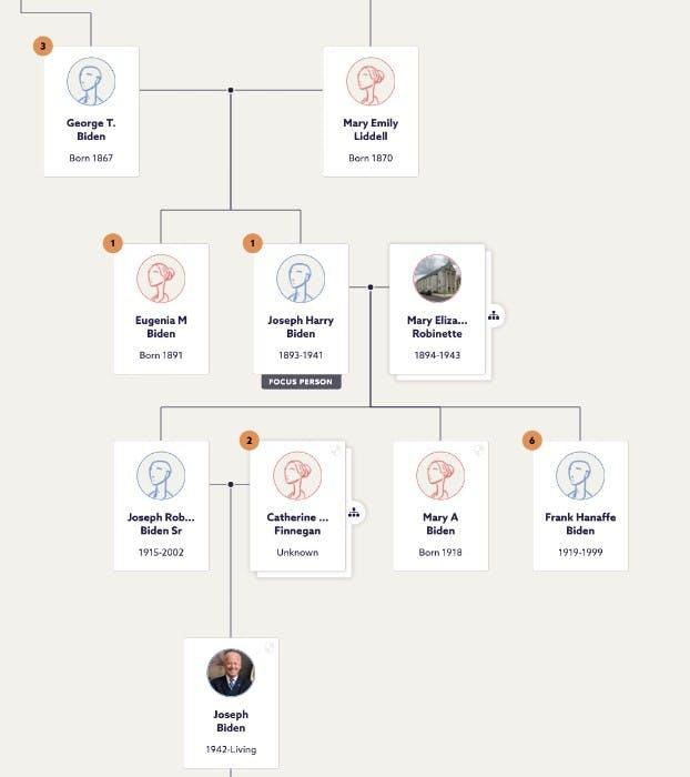 We Ve Unlocked Hidden Branches In Joe Biden S Family Tree Blog Findmypast Com