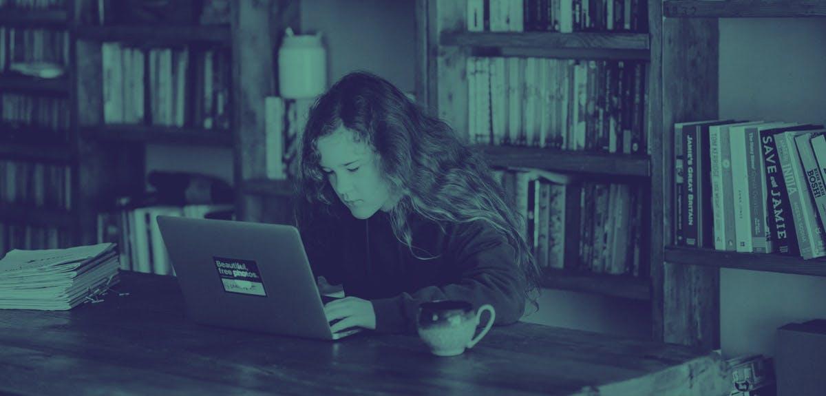 teenager doing school work