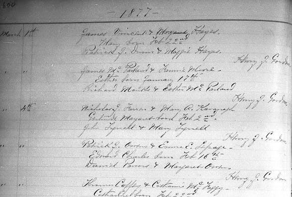New York baptism records
