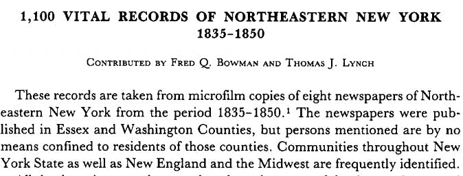 NYGB genealogy records