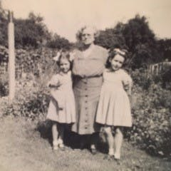 Findmypast member, Valerie Woolley (right) in 1950.