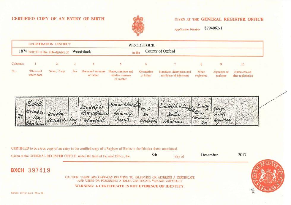 winston-churchill-birth-certificate