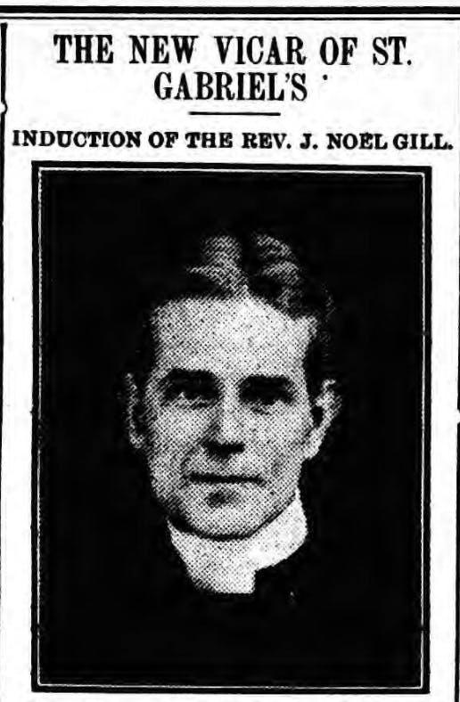 Rev J. Noel Gill in 1912